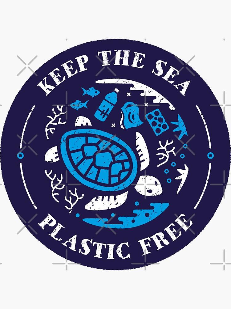 Halten Sie die Sea Plastic Free Marine Szene von Bangtees