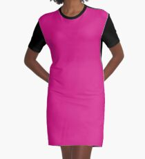 color Barbie pink Graphic T-Shirt Dress