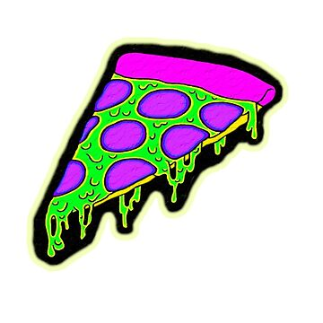 psychedelic pizza by Brownpants