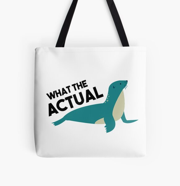 What The Actual PHOQUE - French Language pun All Over Print Tote Bag