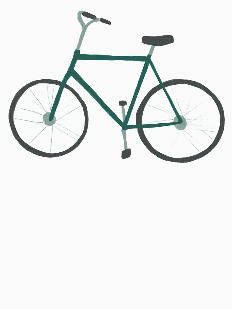 Charming green bicycle pattern by shoshannahscrib