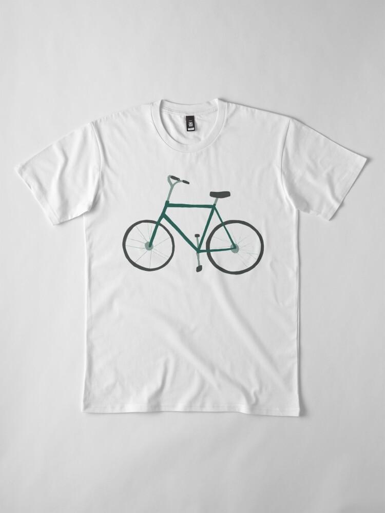 Alternate view of Charming green bicycle pattern Premium T-Shirt