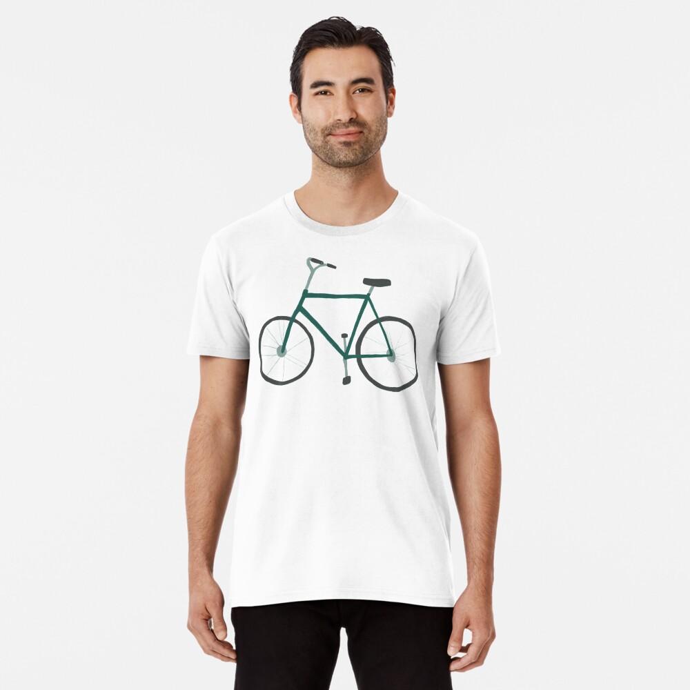 Charming green bicycle pattern Premium T-Shirt