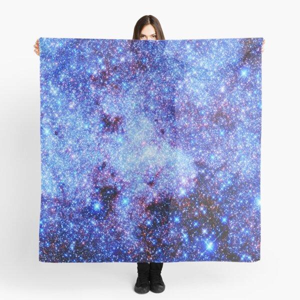 Galaxy Sparkle Stars Periwinkle Blue Scarf