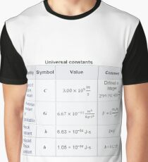 Physics Universal Constants Graphic T-Shirt