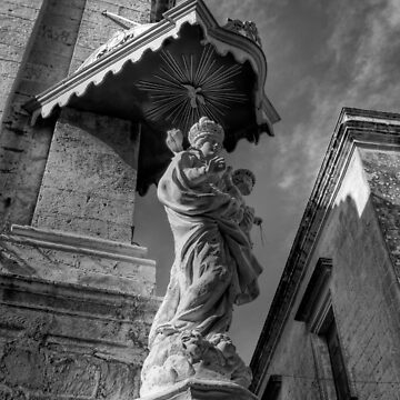 B&W Madonna and Baby Jesus by ill-tempered