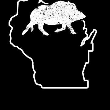 Wild Pig Hunt Wisconsin Hog Attractor Shirt Wild Pig by shoppzee