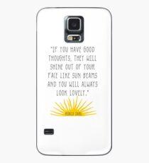 Gute Gedanken Roald Dahl Zitat Hülle & Klebefolie für Samsung Galaxy