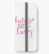 Zukünftige BOSS Lady iPhone Flip-Case/Hülle/Skin