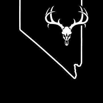 Deer Hunting Birthday Shirt Nevada Hunting Deer Gear by shoppzee