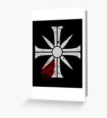 Eden's Gate Bloodsplat FarCry5 Design Greeting Card