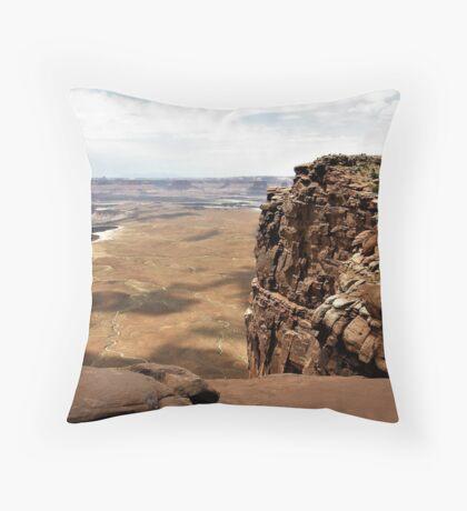 Cliff's Edge At Canyonlands, Utah Throw Pillow
