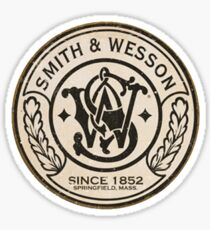 Smith and Wesson  Since 1852, Vintage Advertisement Poster Sticker