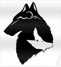 Howling Wolf Drawing Posters Redbubble