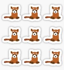 Red Panda Stickers Sticker