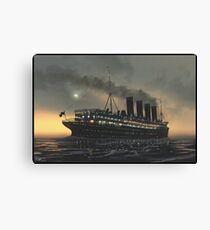 Lusitania at night | Painting | Art by Eliott Cha'coco Canvas Print