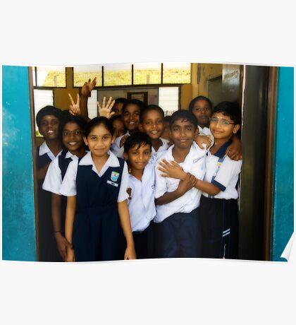 Happy School Children Poster