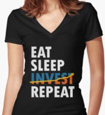 Invest Women's Fitted V-Neck T-Shirt