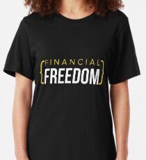 Financial Freedom Retirement 401 Slim Fit T-Shirt