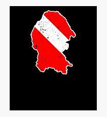 Coahuila Mexico Shirt Diver Flag T Shirt Scuba Diver Shirt Photographic Print