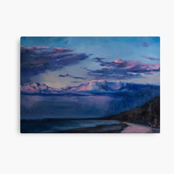 Sunset at the Baltic Sea Canvas Print