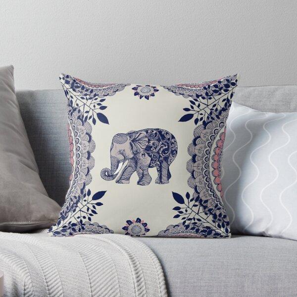 Pretty Pink Elephant  Throw Pillow