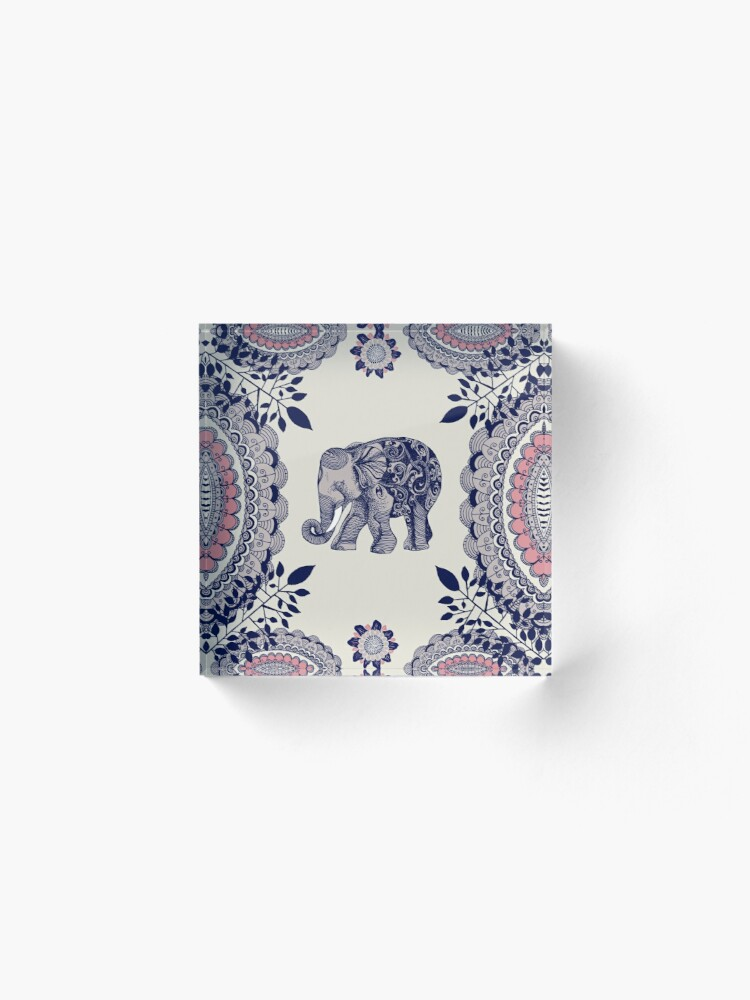 Alternate view of Pretty Pink Elephant  Acrylic Block