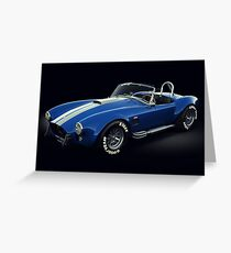 Shelby Cobra 427 Blue with White Stripe Greeting Card