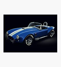 Shelby Cobra 427 Blue with White Stripe Photographic Print