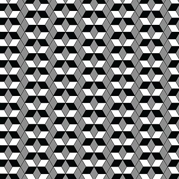 3D Effect Geometric Pattern - Cubes Optical Illusion by FakeMirror