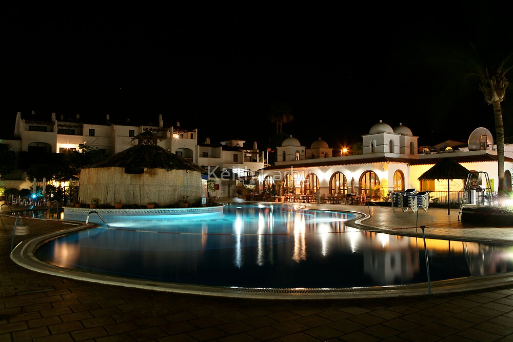 fairways timeshare at night in tenerife by Keith Larby