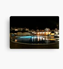 fairways timeshare at night in tenerife Canvas Print