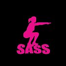 Girl Sass Squats Sass Pink Gym Workout by thespottydogg
