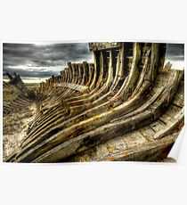 Dead boat skeleton Poster