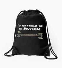 I'd rather be in Skyrim Drawstring Bag