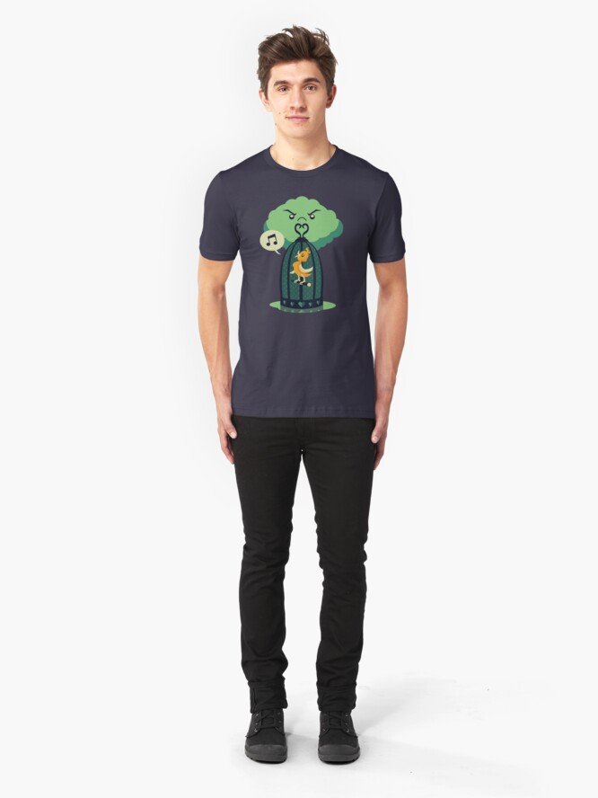 Alternate view of The Caged Bird Slim Fit T-Shirt
