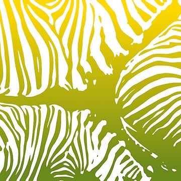 Zebra Camo Pattern - Yellow and Green by Quooki