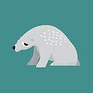 Sleepy Polar Bear - Cute Animal Illustration by SpikyHarold