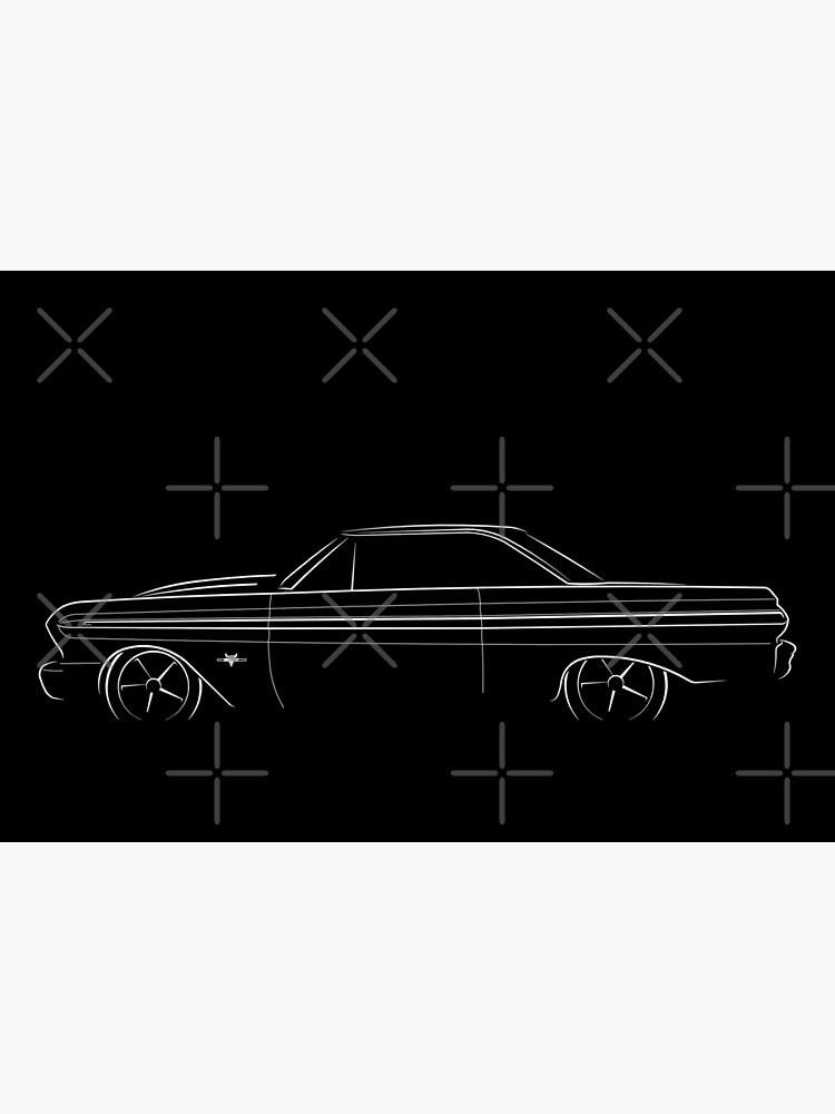 1965 Ford Falcon - profile stencil, white by mal-photography