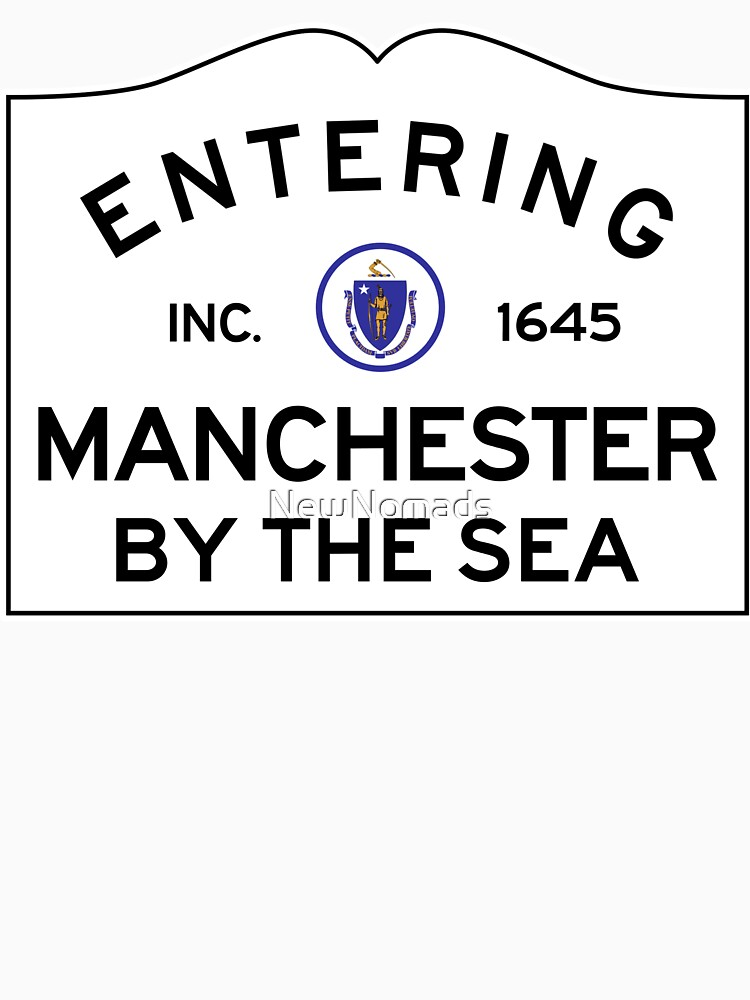 Entering Manchester By The Sea - Commonwealth of Massachusetts Road Sign by NewNomads