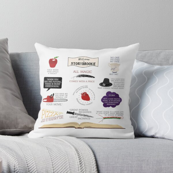 Once Upon a Time Quotes Throw Pillow