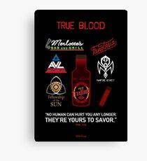 True Blood Logos Canvas Print