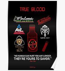 True Blood Logos Poster