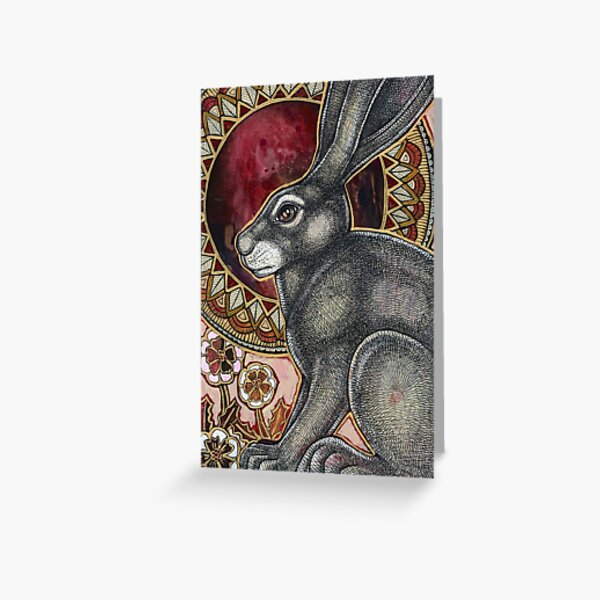Sacred Hare Greeting Card