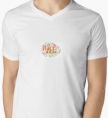 Para V En Cuello Camiseta De Italia Hombre 54LAj3qR