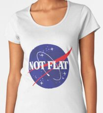 Not Flat- Don't Worry, We Checked Space Design Women's Premium T-Shirt