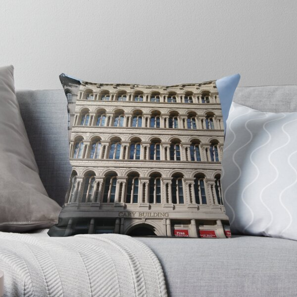 New York, Manhattan, New York City, Skyscraper, tower block, high rise building, tower, block, high rise, building Throw Pillow