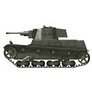 Polish WWII era Light Tank 7tp jw (without roundel) by Escodrion