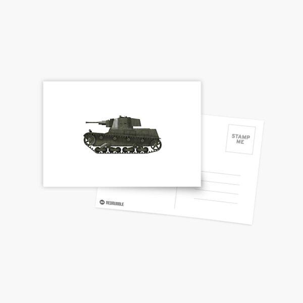 Polish WWII era Light Tank 7tp jw (without roundel) Postcard