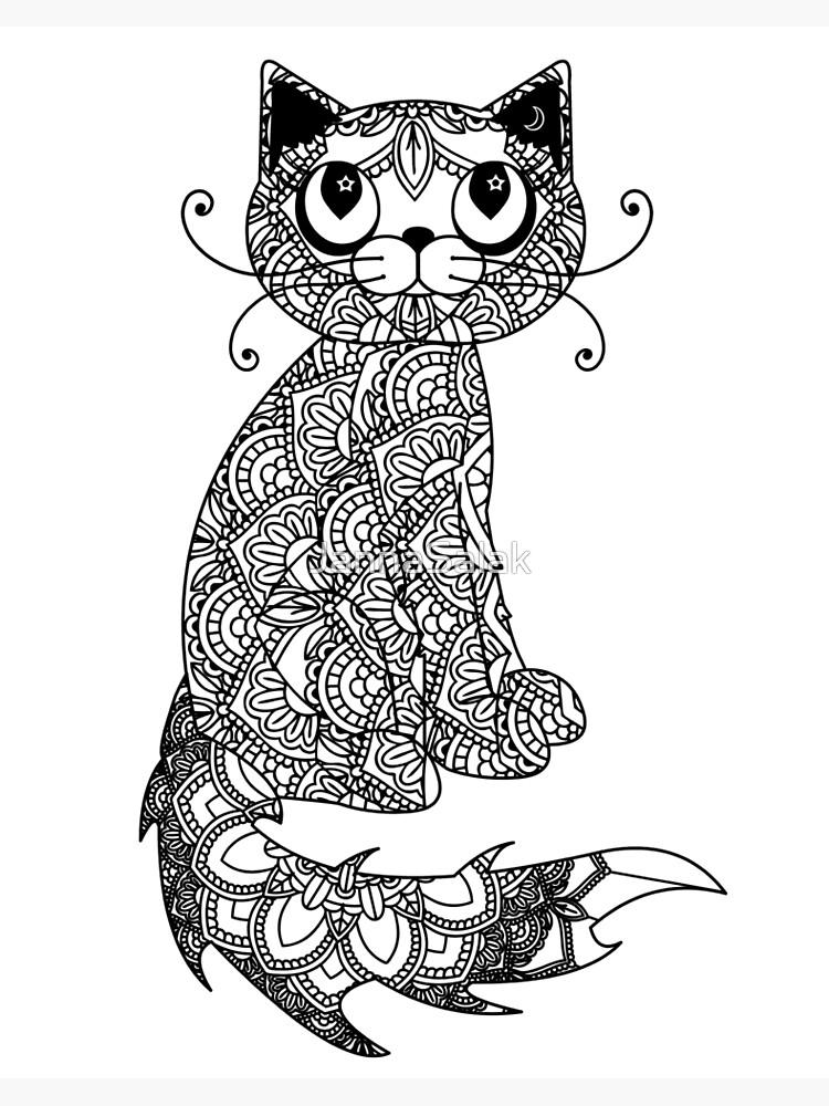 Katze Mandala Abc